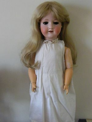 """Antique Rare- A. M. Crying, Walking Doll- 23"""" tall."""