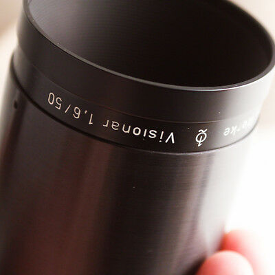 EXC fast VISIONAR 50mm F1.6 projection lens BOKEH dslr movie carl zeiss rathenow