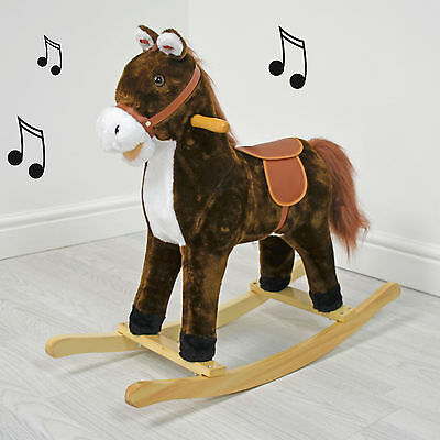 Cuddles Collection Small Baby Chestnut Rocking Horse