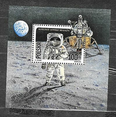 POLAND 1989. 20th Anniv of First Manned Landing on Moon. SG MS3225. MH+o.g..