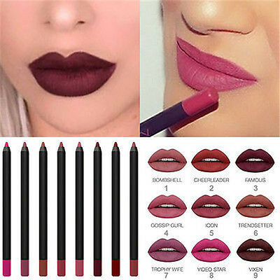 Brand Hot Beauty Lip Contour Matte Pencil Sexy Cosmetic All Shades + Box WH