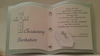 Personalised Christening, Communion, Baptism Invitation Cards Pk10