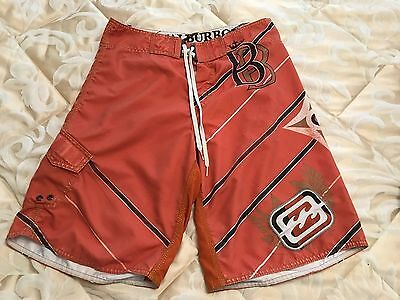 Mens Orange patterned Billabong board shorts size 32 in excellent condition