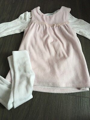 Baby Girl M&s Pinafore Dress Outfit 0-3 Months
