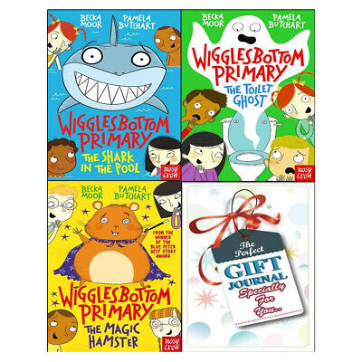 Wigglesbottom Primary Series Pamela Butchart 4 Books Collection With Journal Set