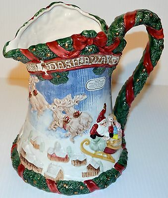 Fitz and Floyd The Night Before Christmas 9 Inch Pitcher 1993