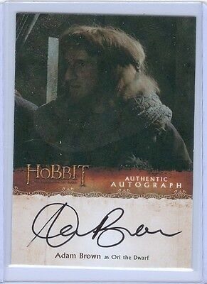 The Hobbit Desolation of Smaug Autograph Card Adam Brown as Ori the Dwarf