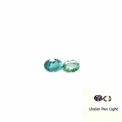 0.28Cts Natural Color Change Alexandrite Oval 2Pcs Loose Gemstone