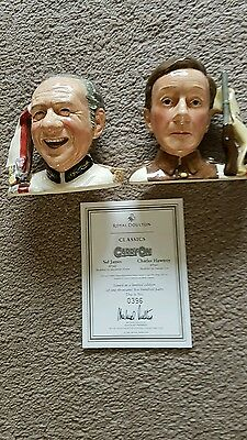 royal doulton toby jugs of sid james and Kenneth Williams