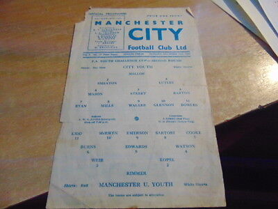 FA Youth Cup 1965/6 Manchester City v Manchester United