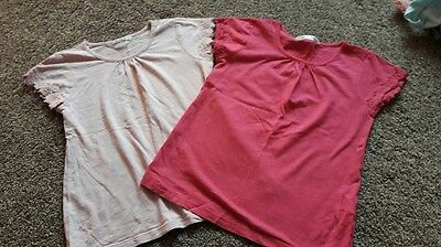 girls t shirts  4-5 years pack of 2