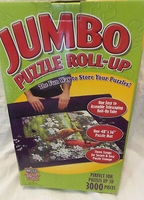 "JUMBO 48"" x 36"" ROLL-UP STORAGE PUZZLE MAT WITH TUBES UP TO 3000 PIECE PUZZLE"