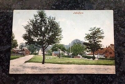 Old Postcard Showing The Village Of Ickleford