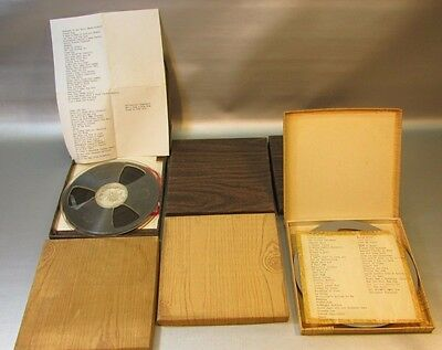 Large of 6 reel to reel 7.5'  tapes in boxs - rock roll 1950s -SEE SONG LISTS