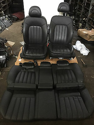 Peugeot 407 Gt Black Leather Front And Rear Seats - Electric - 2006
