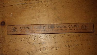 vintage patons turkey rug wool gauge