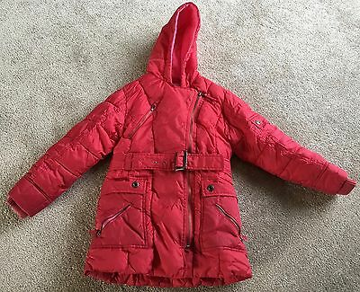 Girls Next Red padded coat aged 7-8 years