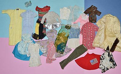 Vintage Barbie & Clone Clothing TLC Lot - Singing in the Shower, PJs, Knit Dress