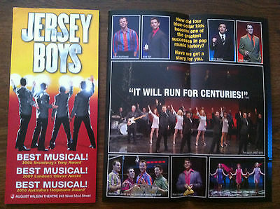 Jersey Boys  musical  ad/flyer Broadway NYC NEW Jarrod Spector Andy Karl
