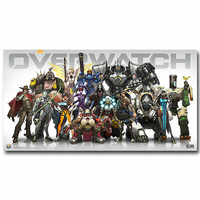 Overwatch Heroes New Shooting Game Art Silk Poster Decor 24x36inch