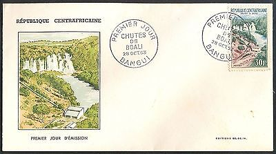 Central African Republik, 1963, Boall Waterfall, FDC