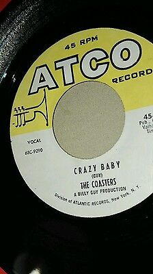 Rare re issue vg+  Coasters crazy baby atco lovely glossy hard one .