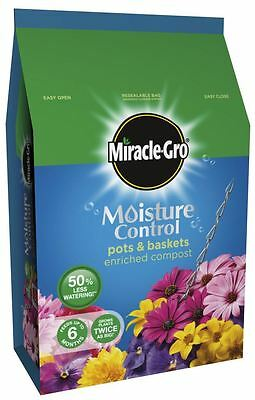 Miracle-Gro Moisture Control Compost Hanging Basket Pots Soil Plant Feed 8L