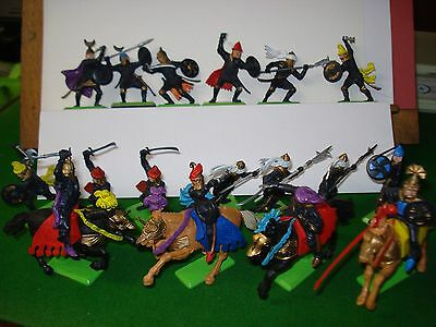 Britains Deetail Turks 1971 Made in England 17 figures .