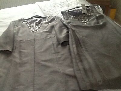 Silver grey outfit wedding races formal size 16