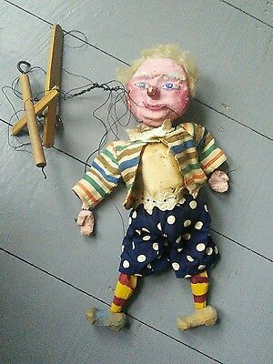 Vintage Clown Puppet