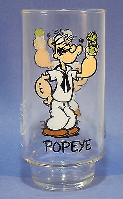 "Vintage 1975 Coca Cola 16oz ""POPEYE"" GLASS King Features Kollect-A-Set Promo"