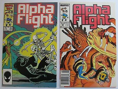 35 NM & 49 VF+ Alpha Flight Comic 1986 & 87 - Members are Inuit & First Nations