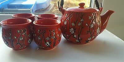 Oriental Teapot and Cup Set