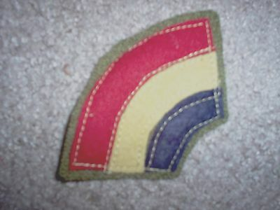 WWI US Army patch 42nd Rainbow Division patch