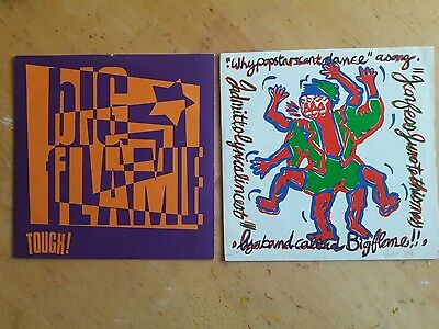 Two 7 inch vinyl records singles from BIG FLAME 1980s -90s Manchester madchester