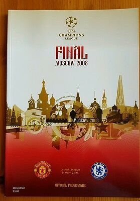 CHAMPIONS LEAGUE. CUP FINAL 2008. MAN UTD v CHELSEA PROGRAMME.