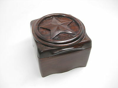 April 2006 ExxonMobil Worldwide Tax Conference Wooden Carved Mahogany STAR Box