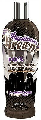 Synergy Tan Downtown Brown Sunbed Tanning Lotion cream with bronzers - Bottle