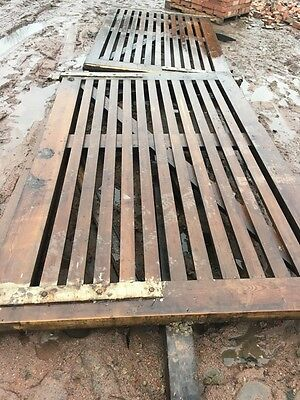 Wooden Driveway Security Gates Heavy Duty 8'4 High 10'2 Wide Used