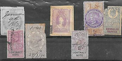 Collection of Early British Stamp Duty Stamps