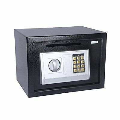 SereneLife Drop Box Safe Front Load Cash Vault Drop lock and Safe, Includes Keys