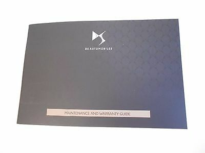 New Blank Genuine Citroen Ds Service History Book For Ds3 Ds4 Ds5 Etc
