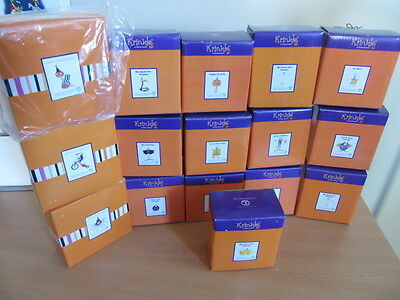 Lof of 16pc Department 56 Brewster Patience Krinkles Halloween Mini Ornaments