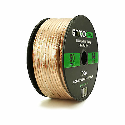 Enrock Audio 50-Ft 16G Speaker Wire For Car & Home Theater Speakers Installation
