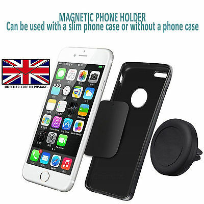 Samsung Galaxy S7/S7 Edge-Magnetic Magnet Car Phone Holder/Air Vent Mount Cradle
