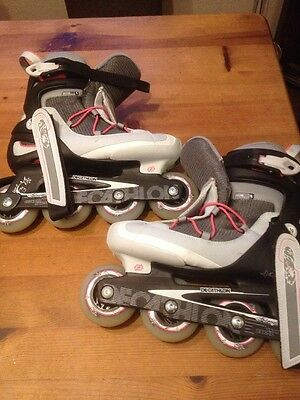 Girls, Decathlon Inline Skates, Size 5.5, Used Once