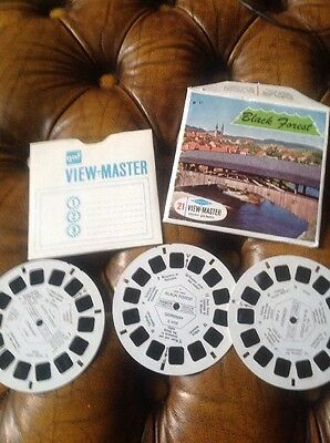 Viewmaster three reel set 3d. Black Forest C410