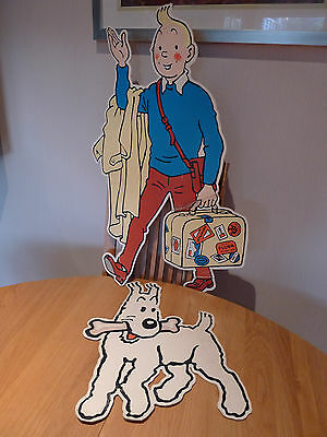 Promotional Cardboard Cutout Images Of Tintin And Snowy - Possibly Unique?