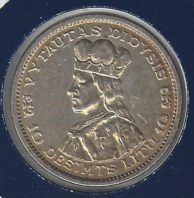 Lithuania, 10 Litu, 1936, Great Historic Silver Coin