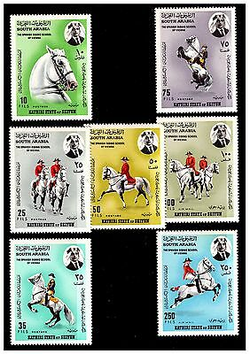 South Arabia Spanish Riding School Stamps. 1967. MNH.  #643